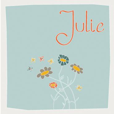 Julie voorkant kaartje gemaakt door Lovedude