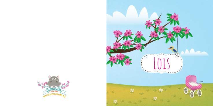 Geboortekaart-Lois-buitenkant-kaartje-van-koen